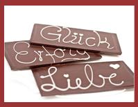 Bio-Schokoladen Grußkarte