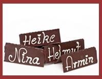Bio-Schokoladen Tischkarte