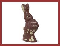 Bio-Schokoladenfigur Hase mit Osterei