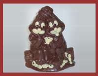 Bio-Schokoladenfigur Hasenpärchen