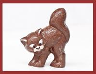 Bio-Schokoladenfigur Katze