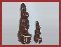 Bio-Schokoladenfigur Korbhase