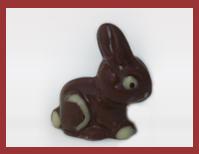 Bio-Schokoladenfigur Mini Sitzhase