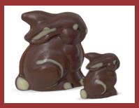 Bio-Schokoladenfigur Sitzhase