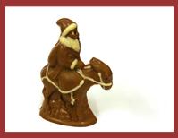 Bio-Schokoladenfigur Weihnachtsmann auf Esel