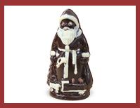 Bio-Schokoladenfigur Weihnachtsmann mit Lokomotive
