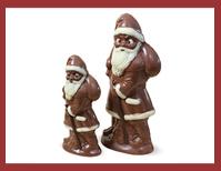 Bio-Schokoladenfigur Weihnachtsmann mit Sack