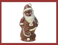 Bio-Schokoladenfigur Weihnachtsmann-mit-Spielzeug