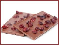 Bio-Vollmilch Schokolade mit Cranberries