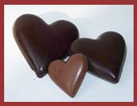 Bio-Schokoladenfigur Herz