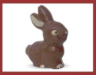 Bio-Schokoladenfigur Schmunzelhase
