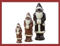 Bio-Schokoladenfigur klassischer Weihnachtsmann