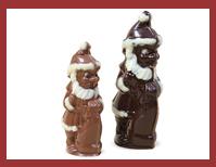 Bio-Schokoladenfigur knuffiger Weihnachtsmann