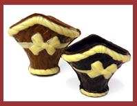 Bio-Schokoladenkörbchen zum Befüllen mit Pralinen